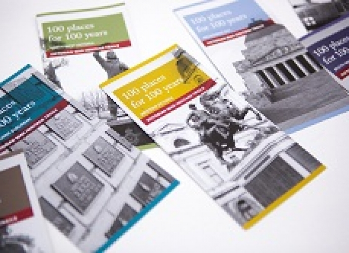 100 Places for 100 Years brochures