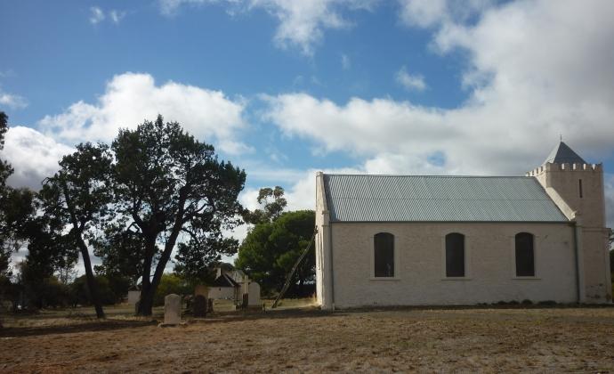 Church in landscape